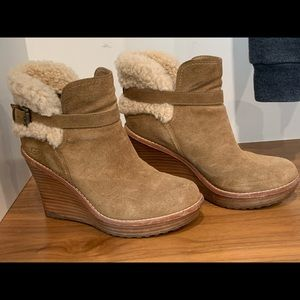 UGG Boot with Wood Wedge Heel